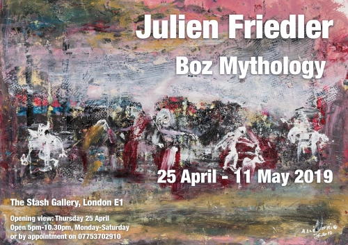 julien friedler,boz,mythology,art,exhibition